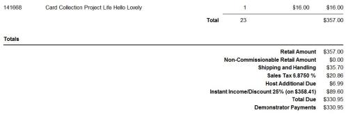 Order total