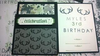 Myles birthday invite